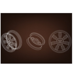 Wheel on a brown vector