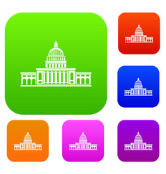 white house set color collection vector image
