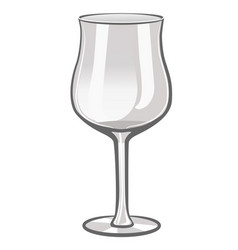 wine glass isolate on white background template vector image
