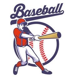 baseball player hitting the ball vector image vector image