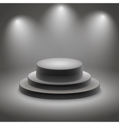 Black empty illuminated podium vector image