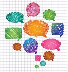 bubbles for speech vector image