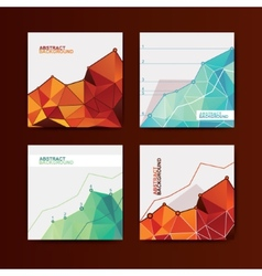 Business chart graphs vector image
