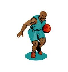 Basketball Player Dribbling vector image vector image