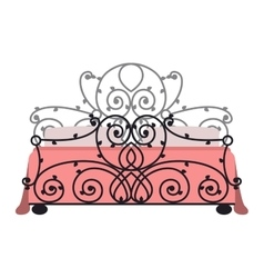 bed icon isolated vector image
