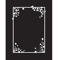 black floral box vector image vector image