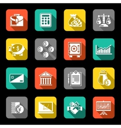 Finance icons set flat vector image