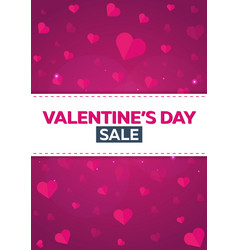 poster valentines day sale background with hearts vector image vector image