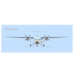 Private plane vector image vector image