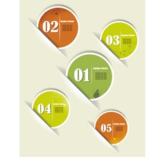 Set of Colorful Sample stickers with numbers vector image