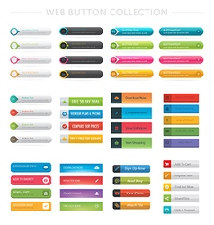 Web Button Collection vector image