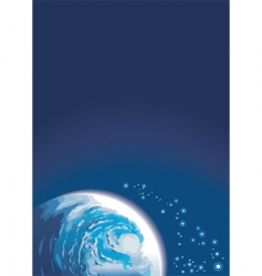 background with space and planet vector image
