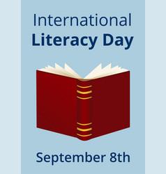 International literacy day vector