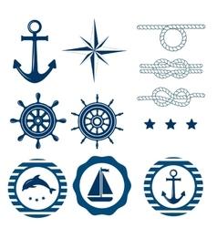 Nautical decoration set vector image vector image