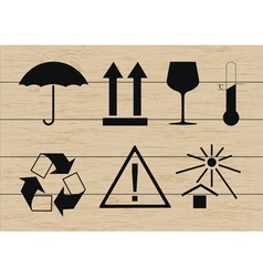 Packing symbols set vector image vector image