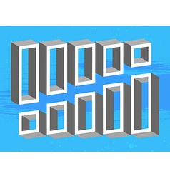 Set of 3D shelves vector image vector image