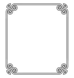 thin black ornamental frame on vector image