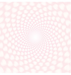 twisted hearts with tunnel effect vector image
