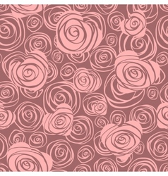 Abstract seamless pattern with hearts and roses vector image
