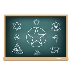 board magic symbol vector image vector image
