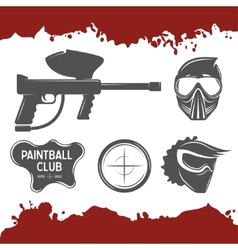 Paintball design elements vector image vector image