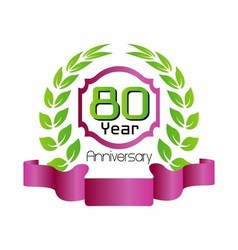 80 year birthday celebration 80th anniversary vector