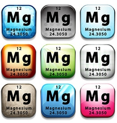 A button showing the element magnesium vector