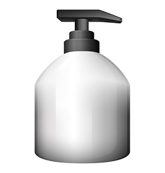 A gray pumping bottle vector