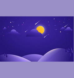 abstract landscape background night background vector image