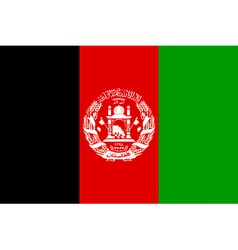 Afghan flag vector