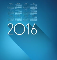 An Elegant 2016 Cloud Calendar vector