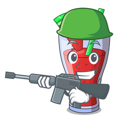 army character tasty beverage fruit watermelon vector image