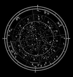 Astrological horoscope on January 1 2017 vector