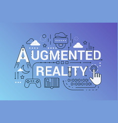 augmented reality line concept vector image