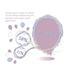 Big Sale paper banner Sale background Big sale vector