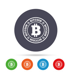 bitcoin sign icon cryptography currency symbol vector image