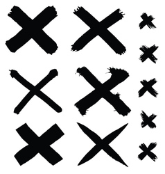 Black painted cross vector