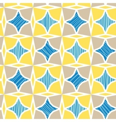 Blue and yellow marble textured tiles seamless vector