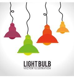 Bulb design over white background vector
