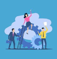 business teamwork people work together vector image