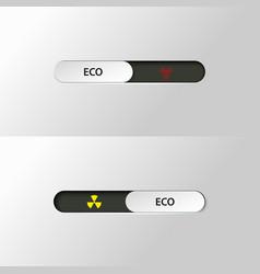 Button slider biohazard radiation vector