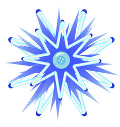 cartoon blue button in the style of christmas vector image
