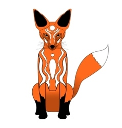 Cartoon red fox vector