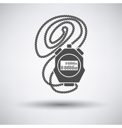 Coach stopwatch icon vector image