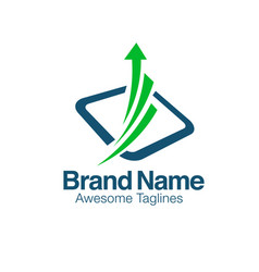 creative financial market logo vector image
