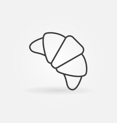croissant line icon - concept symbol vector image