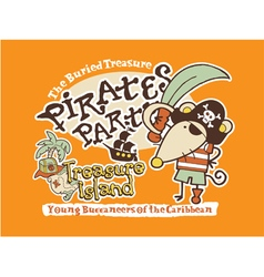 Cute pirate mouse vector image vector image