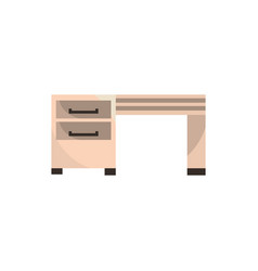 desk drawers furniture office work business vector image