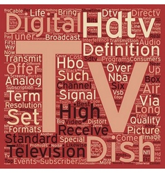 dish tv hdtv text background wordcloud concept vector image