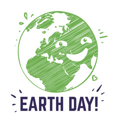 earth day poster planet environmental world vector image